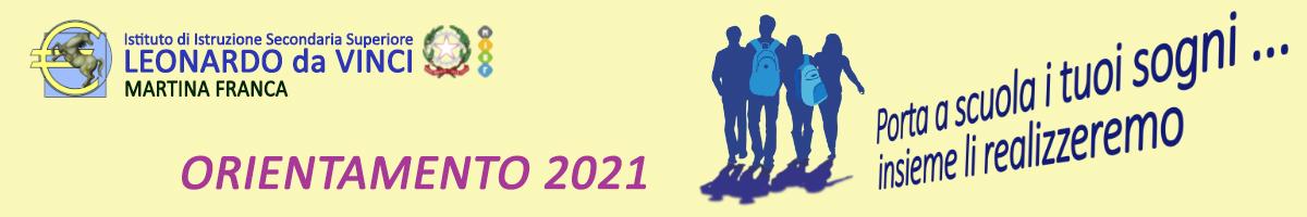 Orientamento IISS Da Vinci Martina Franca A.S. 2021/2022