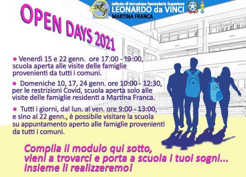 OPEN DAYS 2021/2022